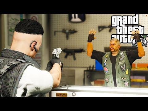 GTA V : VIDA DO CRIME : O ASSALTO DA LOJA DE ARMAS!! EP.#03