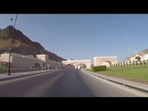 Muscat, Oman - Drive from Mutrah area to Shangri-la Barr Al Jissah Resort - HD Quality