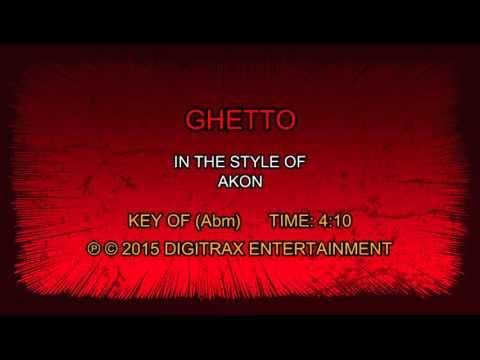 Akon  Ghetto Backing Track