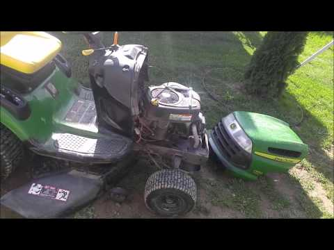 hqdefault how to remove install hood top on john deere riding lawnmower la100