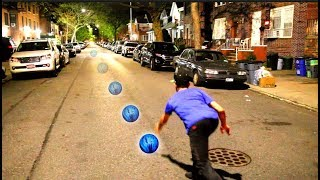 Bowling in the Street with a Rheoscopic Fluid Ball