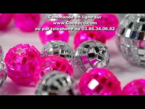 D coration de table argent fuchsia youtube for Decoration annee 80