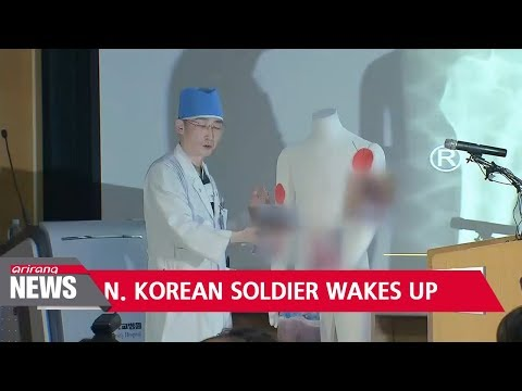North Korean soldier who defected to South Korea wakes up