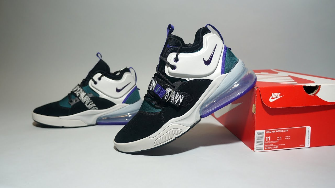 7038216791944f Nike Air Force 270 Carnivore AH6772-005 - YouTube