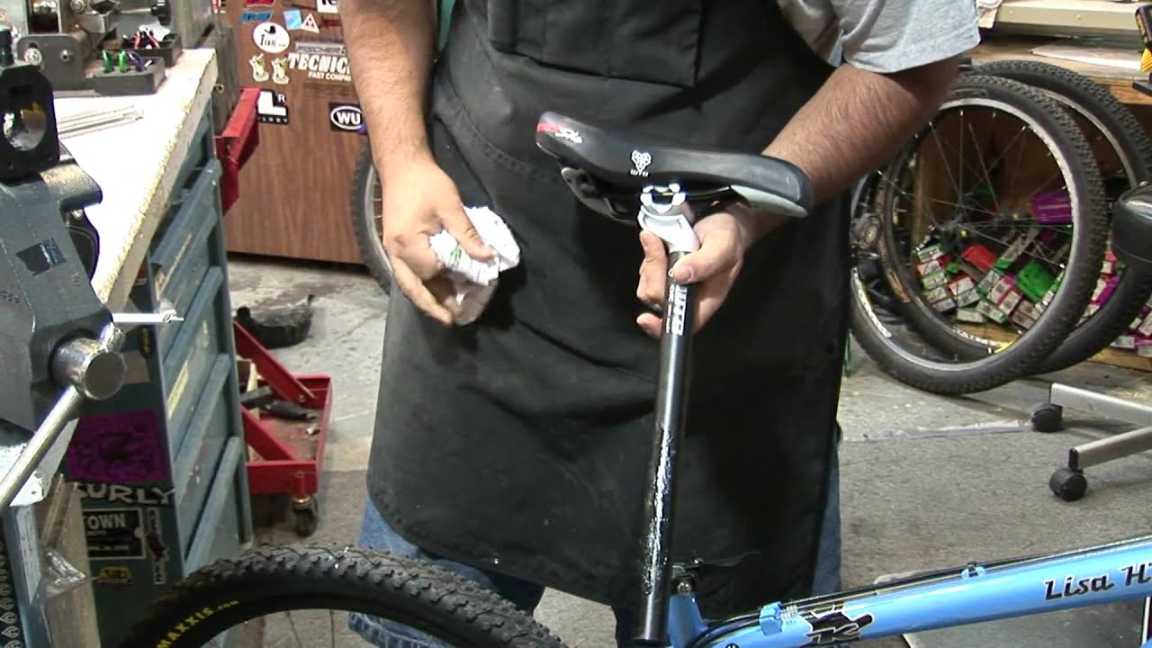 Replacing A Bicycle Seat And Seat Post Youtube