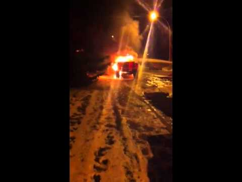 Airdrie truck fire.