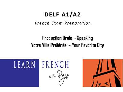 Learn French - DELF A1/A2 Exam - Production Orale - Speaking - Your Favorite City - Paris