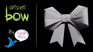 How To Make Origami Bow Easy Tutorial