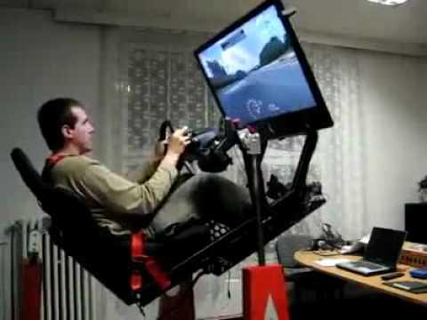 hydraulic racing simulator chair zero gravity outdoor incredible video game youtube