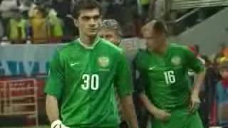 Россия-Македония Малафеев спасает ворота