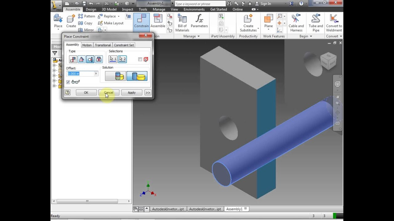 how to make an exploded assembly in inventor