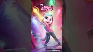 Играю в игру моя говорящая Анджела.😇