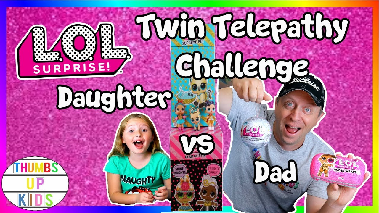 Twin Telepathy Dad V Daughter Thumbs Up Family Youtube