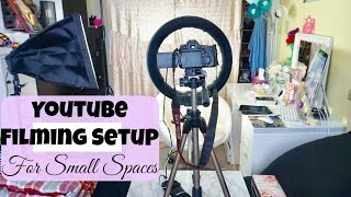 YouTube Filming Setup for SMALL SPACES | Beauty Videos