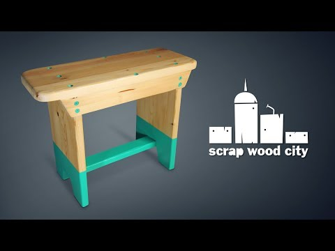 How to make a super simple wooden stool - DIY