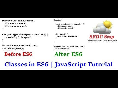 ES6 Classes in JavaScript | JavaScript Classes Private Variables | JavaScript Tutorial Series by SFDC Stop