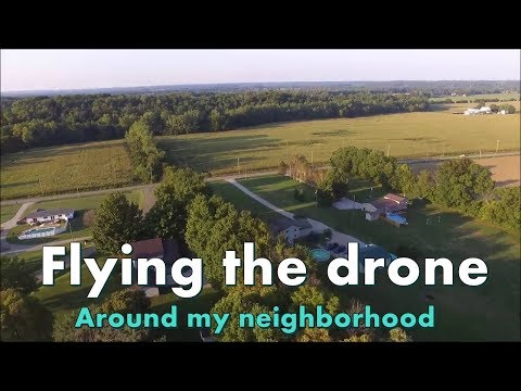 Flying the drone around my neighborhood | Brisbane, Australia