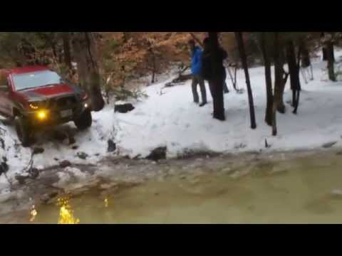 Toyota Tacoma snow wheeling in New Hampshire