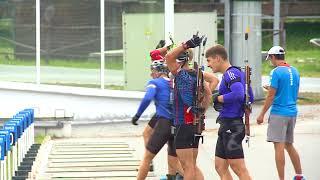 Мужская сборная России по биатлону провела сбор в «Жемчужине Сибири»