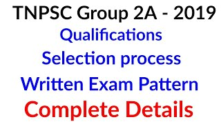Tnpsc Group 2A 2019 - qualifications , written exam preparation , Expected Cut off | Tnpsc Group 2A