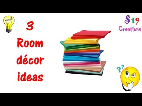 3 DIY paper crafts | paper craft ideas for room decoration | useful diy projects | kids paper crafts