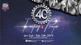 40 Days Fasting & Prayer Service, Day 18 live With Apostle Johnson   Suleman