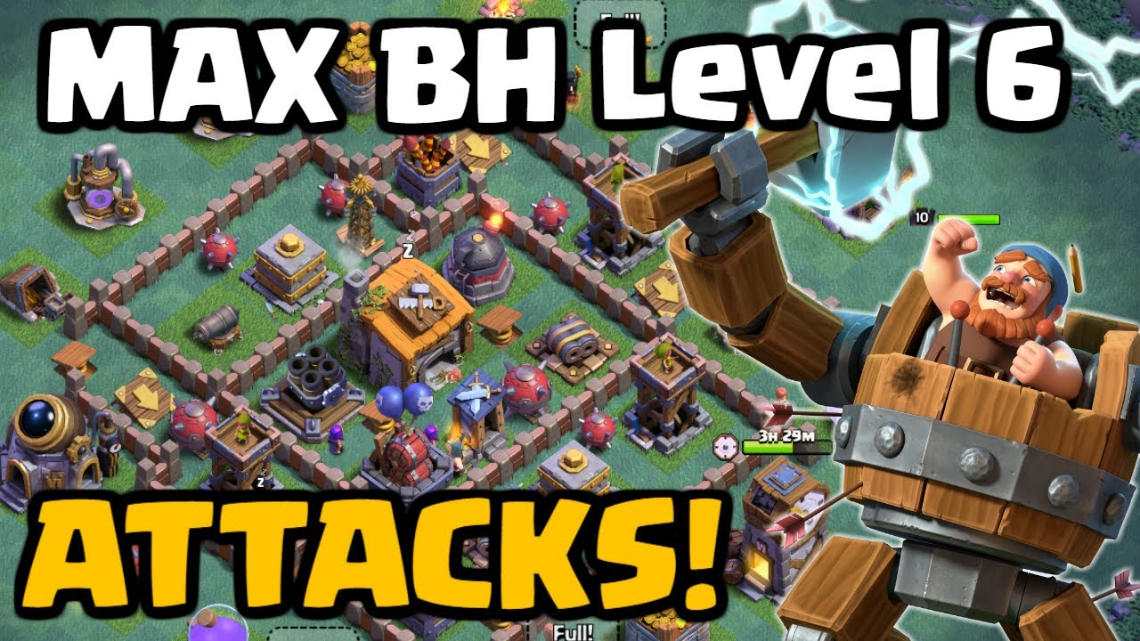 Builder Hall Level 6 Attacks! Clash of Clans Night Witch ...