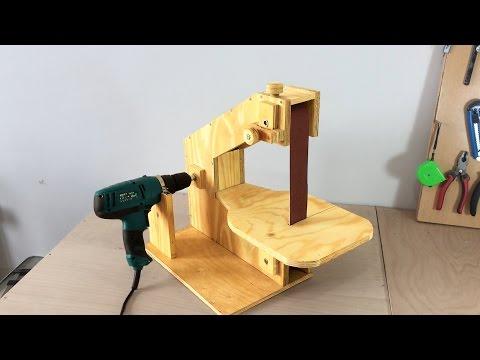 Making a Homemade Belt Sander - El yapımı Şerit Zımpara Makinası