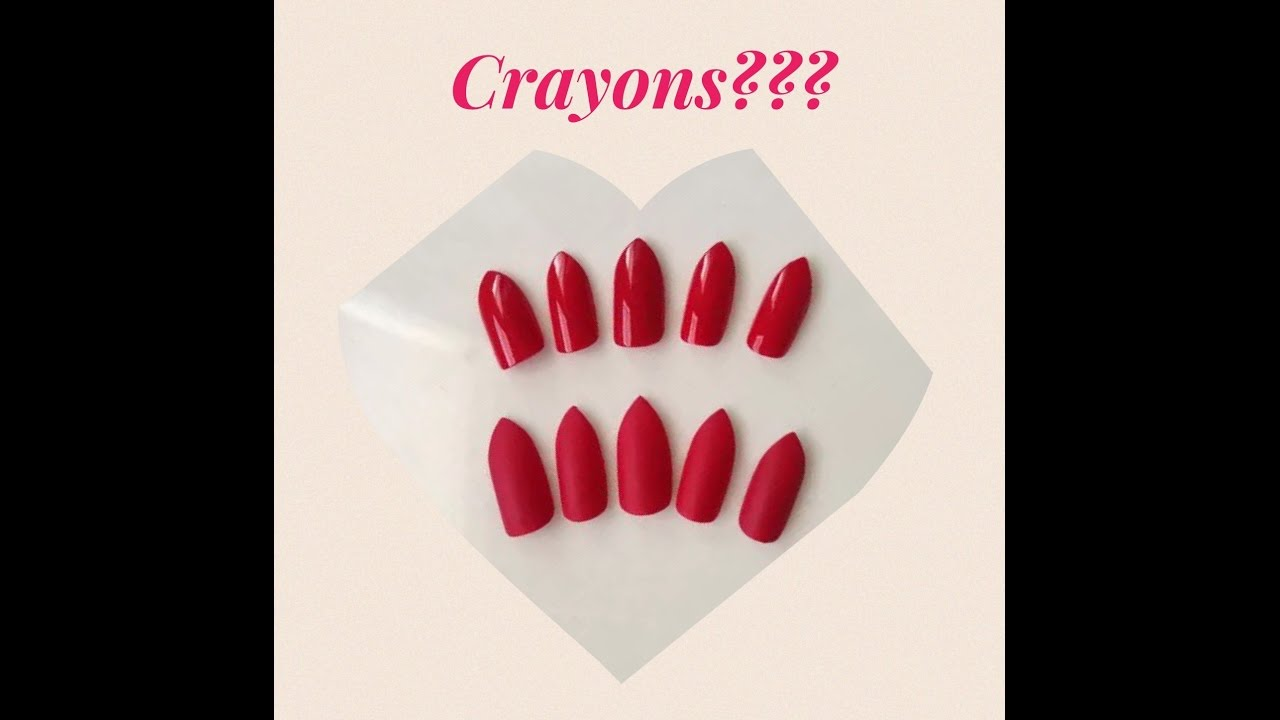 Fake Nails Made Of Crayons
