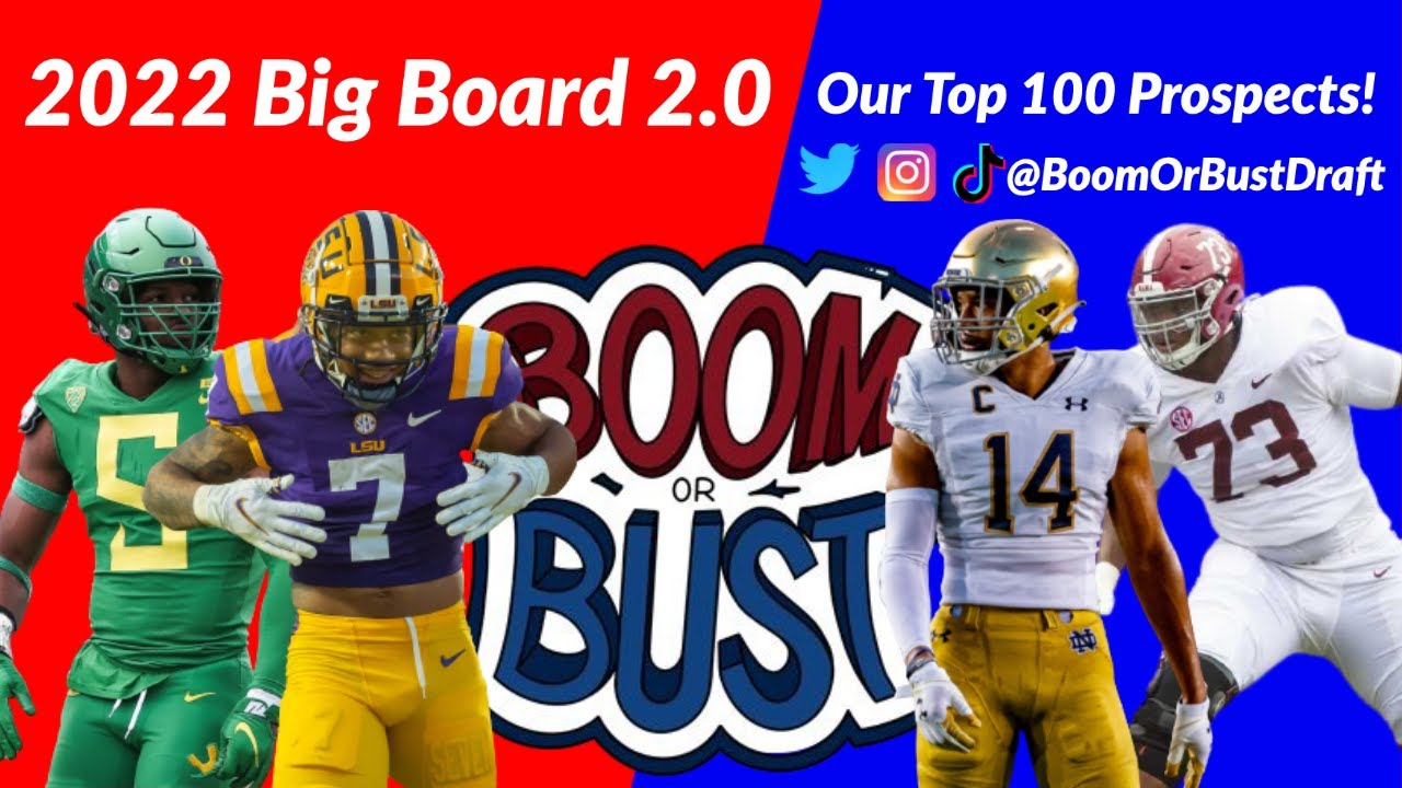 Download BIG BOARD 2.0: Top 100 Prospects in 2022 NFL Draft! | Boom or Bust: The Draft Show