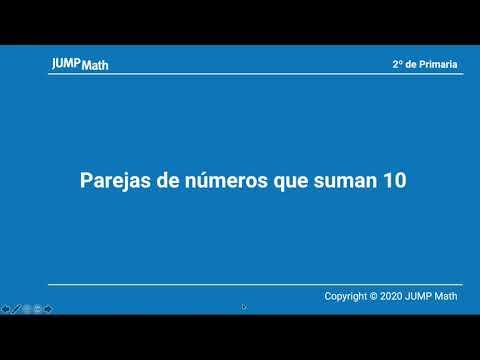 2º. Unidad 2. Parejas de números que suman 10