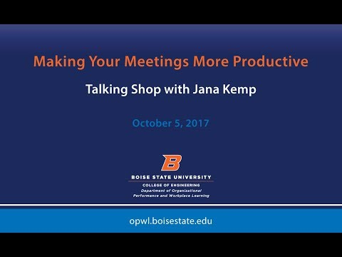 Making Your Meetings More Productive