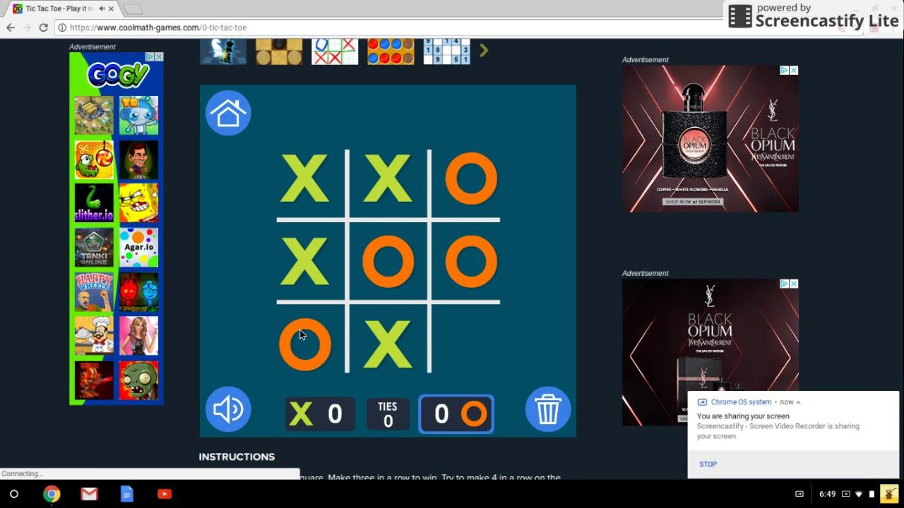 cool math games tic tac toe demonstration  youtube cool math games tic tac toe demonstration
