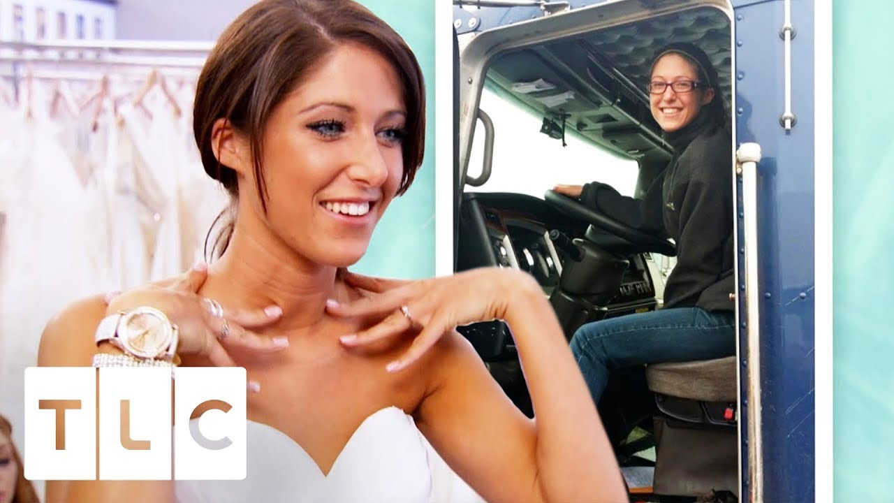 Truck Driver Bride Can't Find What She Wants!   I Found The Gown