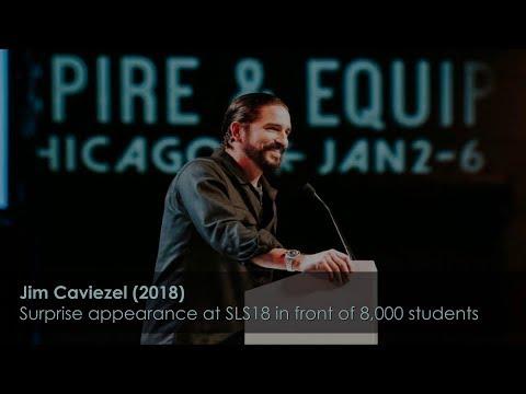Jim Caviezel Inspiring Testimony  new  Chicago SLS18 surprise