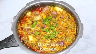 Undhiyu or Oondhiyu Video Recipe | Seasonal Vegetables | Bhavna