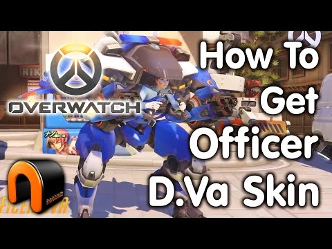 Overwatch POLICE OFFICER DVA SKIN & How To Get It!