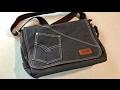 Tocode Canvas Denim Jeans style Messenger Shoulder Bag review giveaway
