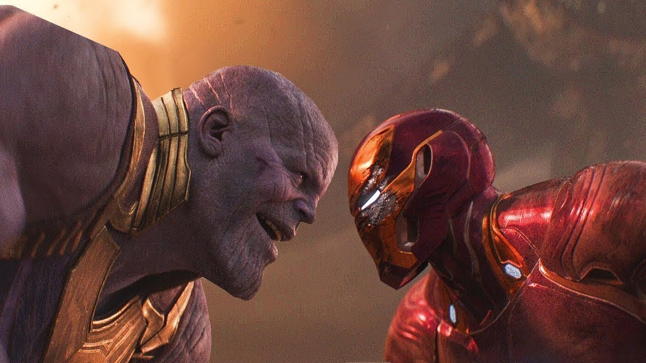 Download AVENGERS INFINITY WAR Iron Man Vs Thanos Fight Scene 4K Movie Clip