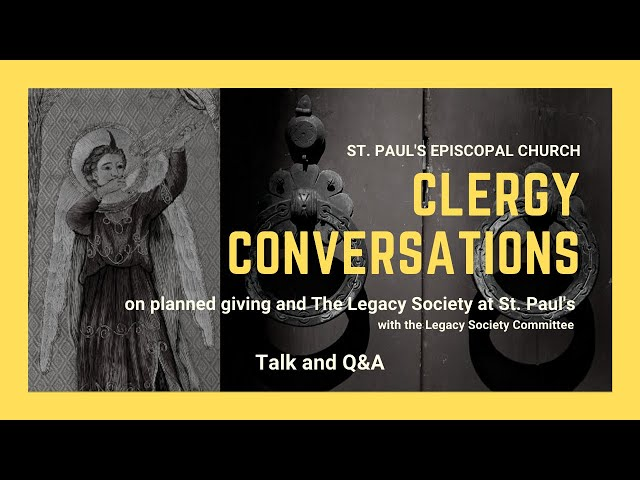 Adult Education: Clergy Conversations on Planned Giving