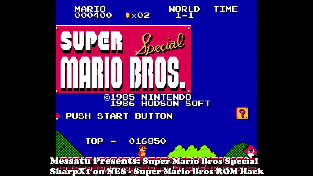 Let's Play - Super Mario Bros  Special (SharpX1 for NES) ROM Hack