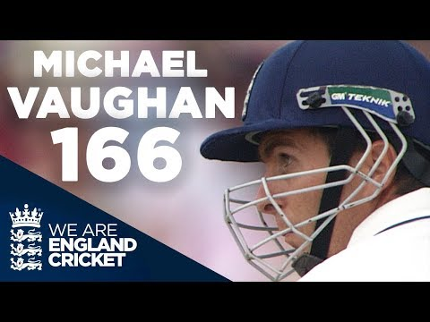 The 2005 Ashes: Michael Vaughan Hits Brilliant 166 at Old Trafford  Full Highlights