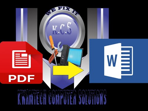 How To Convert A Pdf Document To Word Document Using Nitro; Very Simple, 2019