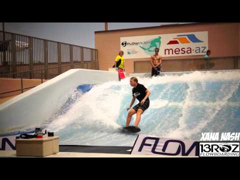 Juniors Flowboard Highlights of the Flowrider Contest Mesa Arizona