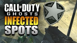 """Call of Duty Ghosts Best """"Infected Spots"""" - COD Ghost Infected Online Multiplayer Glitches"""