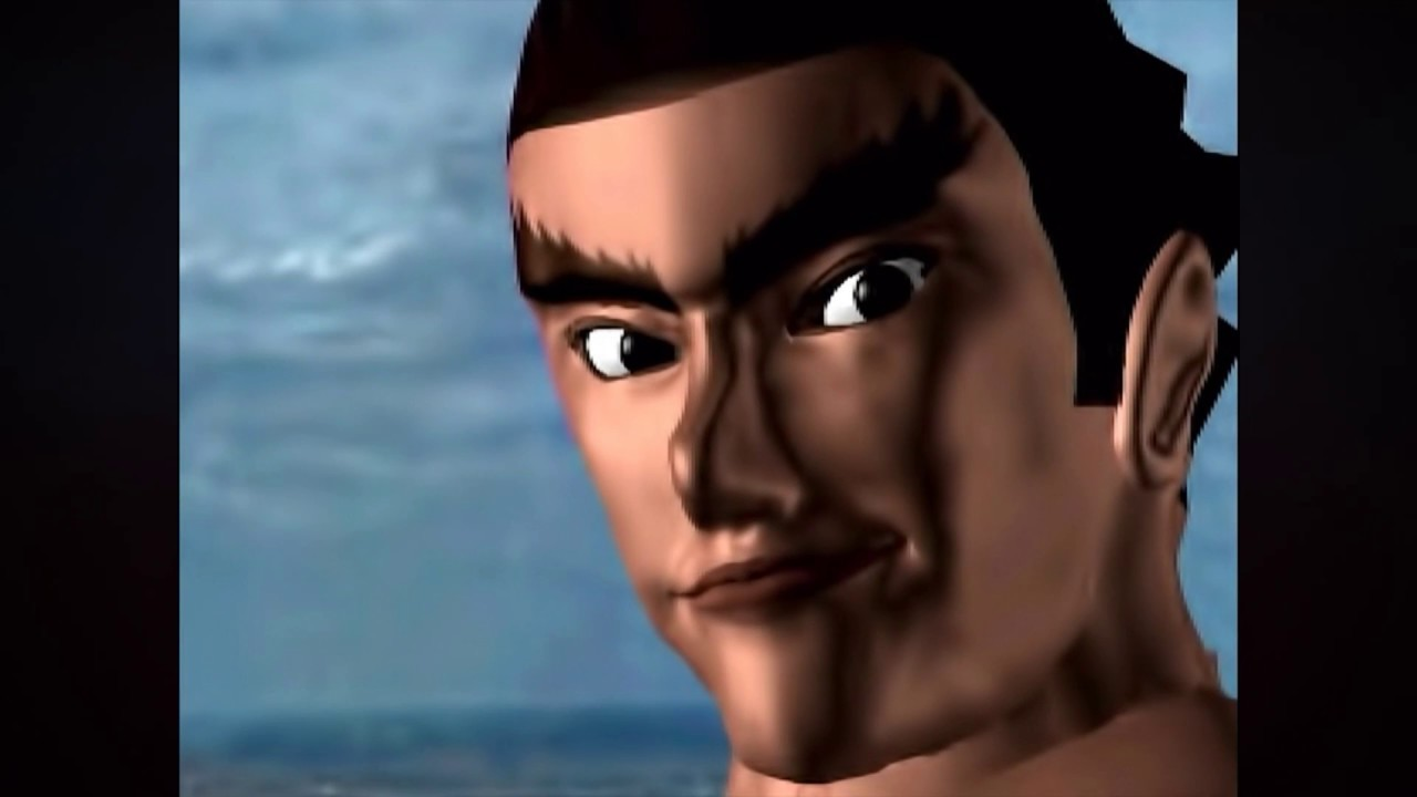 Kazuya Throws Heihachi Off A Cliff