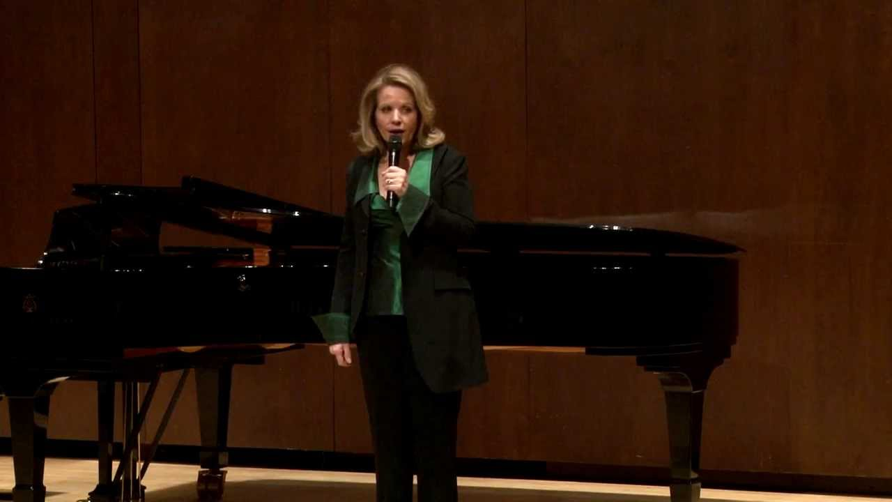 Renée Fleming Master Class, February 13, 2014: Q&A with Renée Fleming
