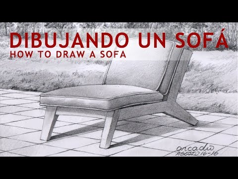 Como dibujar un sofá. /How to draw a sofa.
