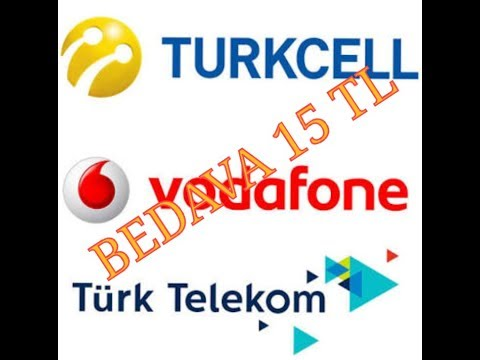 Bedava 15 tl nasıl yapılır Turkcell Vodafone Türk Telekom 2018