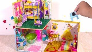 DIY Miniature Dollhouse Room ~ Disney Princess Ariel Rapunzel Belle Room Crafts